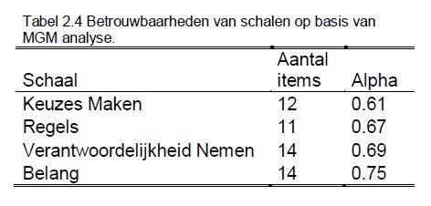 Handleiding Dilemmas Tabel 2.4 Groot
